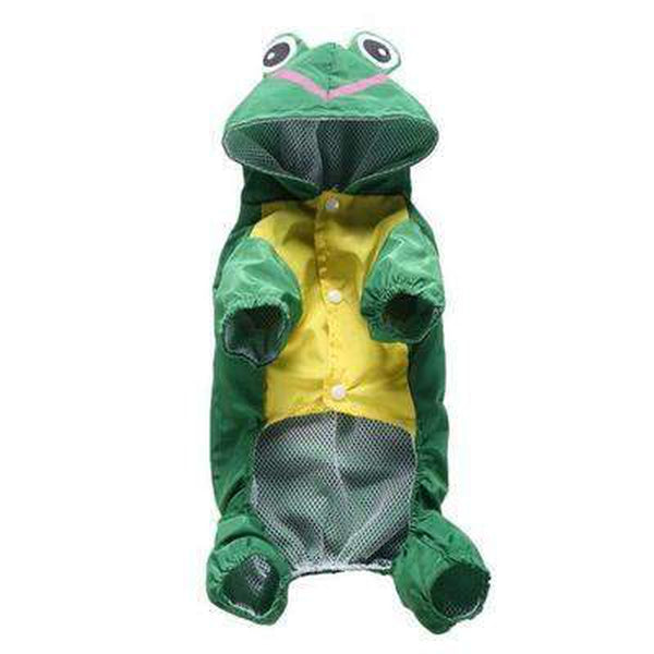 Cute Frog Dog Rainsuit, Pet Clothes, Furbabeez, [tag]