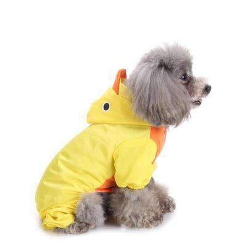 Cute Ducky Dog Rainsuit, Pet Clothes, Furbabeez, [tag]