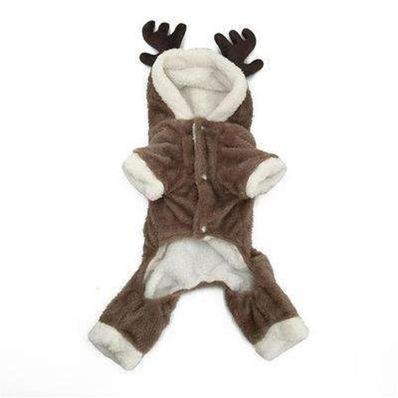 Reindeer Warm Dog Hoodie Suit Pet Clothes Oberlo XS