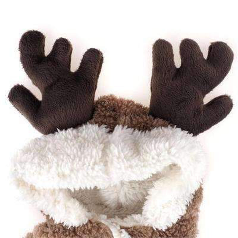 Reindeer Warm Dog Hoodie Suit Pet Clothes Oberlo