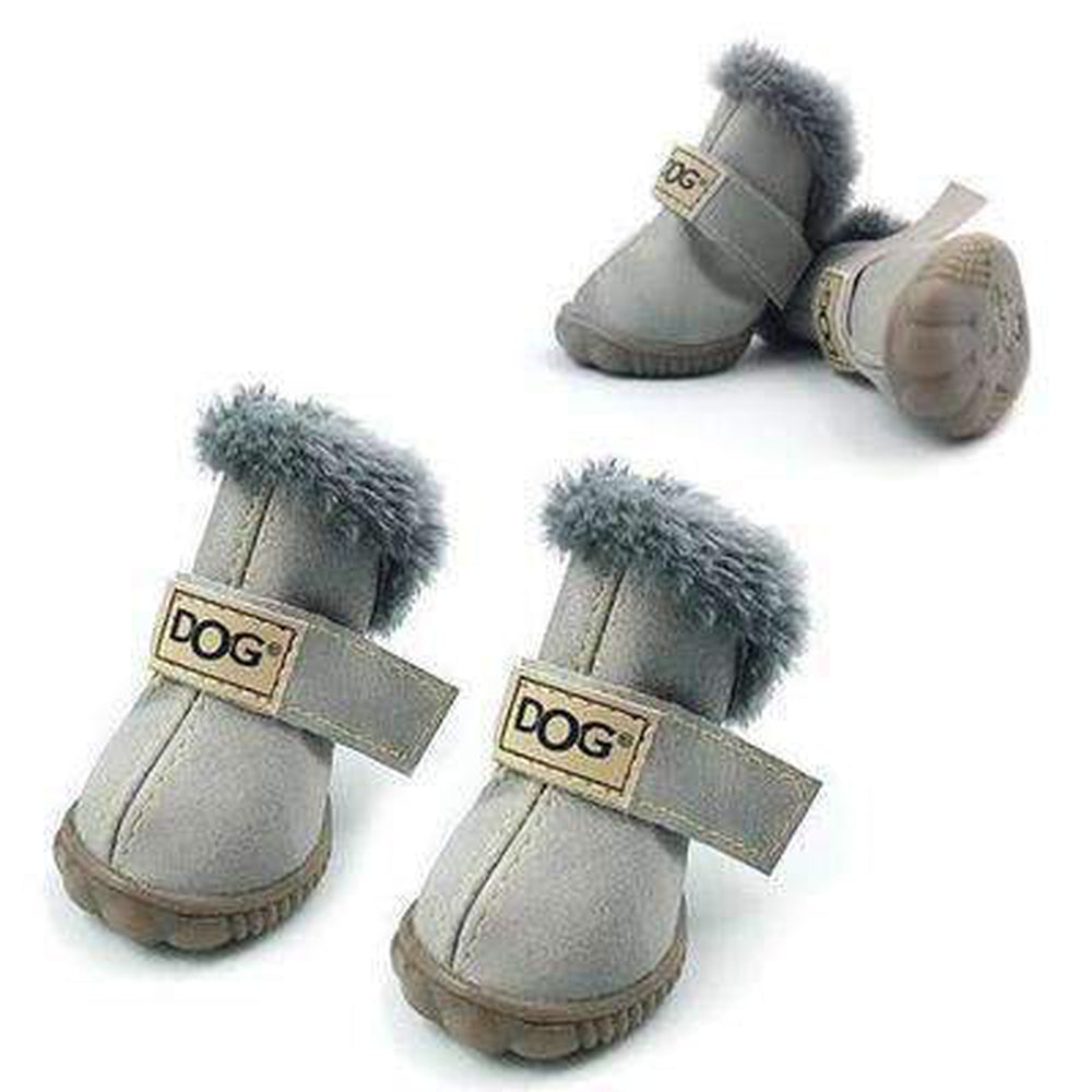 Waterproof Dog Ugg Boots - New Colors Pet Clothes Oberlo Gray 1