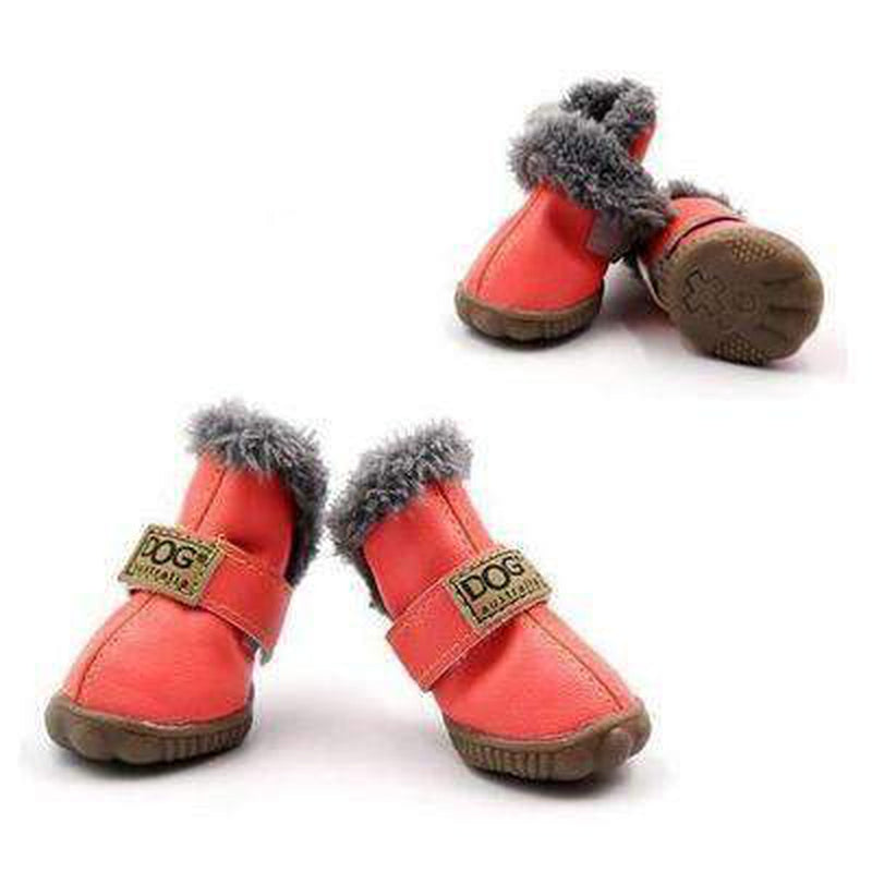Waterproof Dog Ugg Boots - New Colors Pet Clothes Oberlo Peach 1