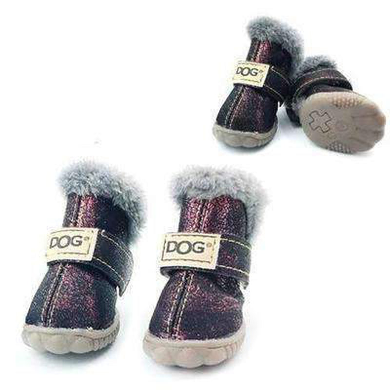 Waterproof Dog Ugg Boots - New Colors Pet Clothes Oberlo Purple 1