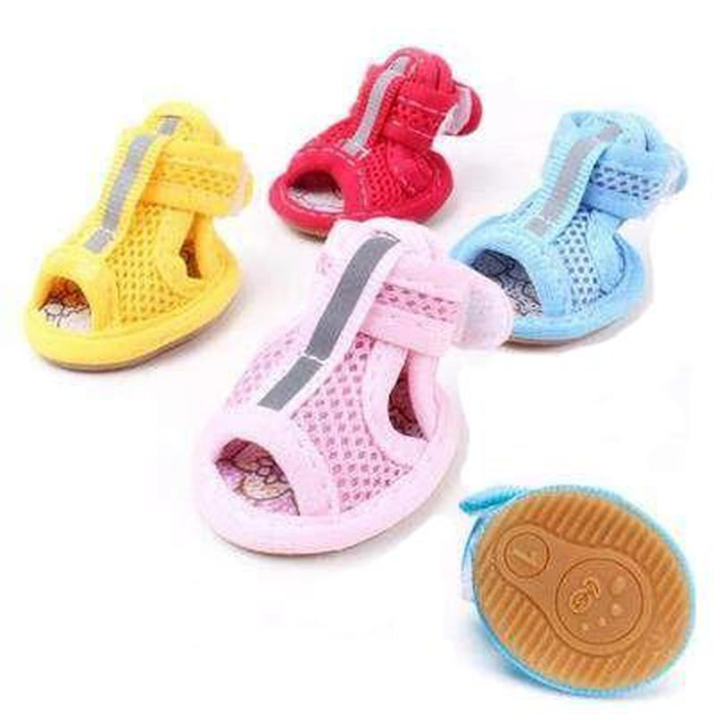 Dog Sandals - Mesh, Comfortable, Protect Paws, Pet Clothes, Furbabeez, [tag]