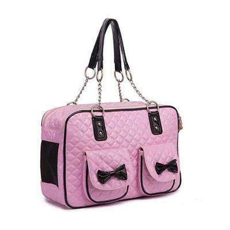 Quilted Bow Fashion Dog Carrier Pet Accessories Oberlo