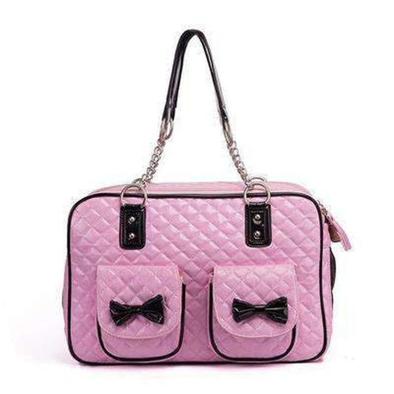 Quilted Bow Fashion Dog Carrier, Pet Accessories, Furbabeez, [tag]