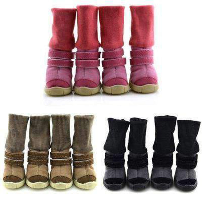 Winter Dog Boots with Leg Warmers Pet Clothes Oberlo