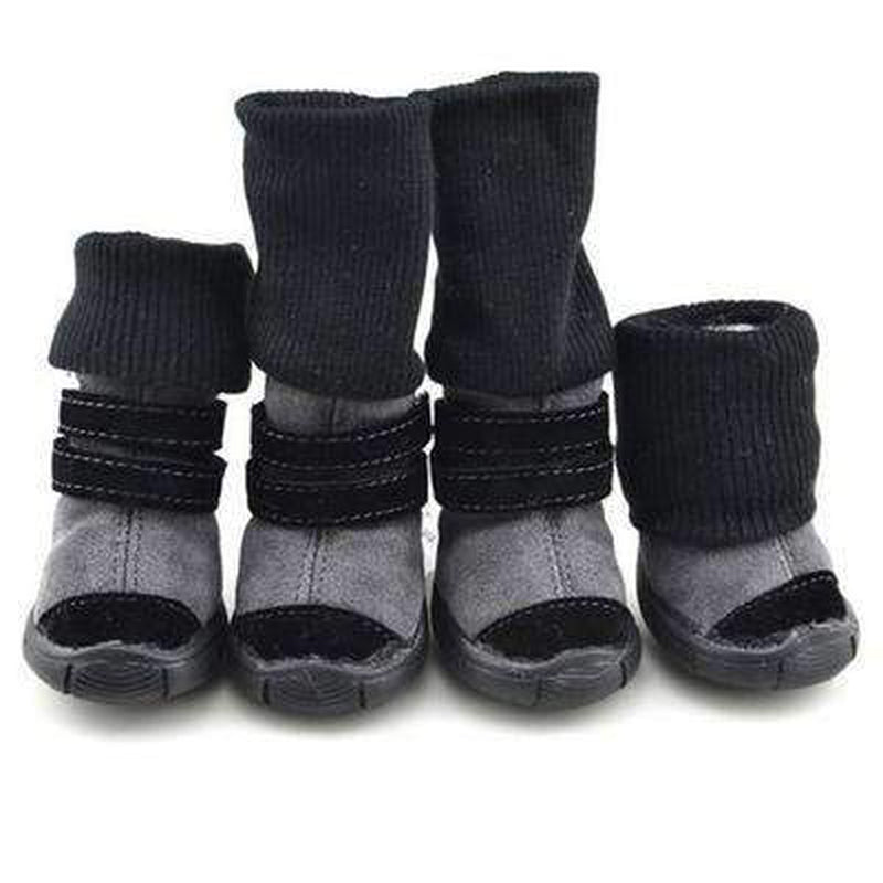 Winter Dog Boots with Leg Warmers Pet Clothes Oberlo Black 4
