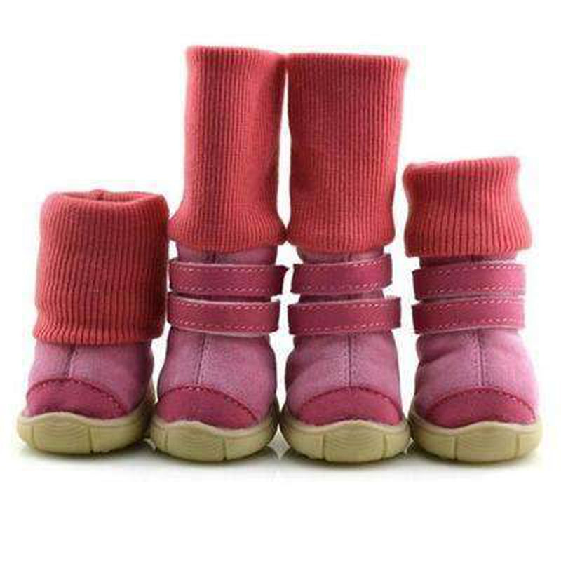 Winter Dog Boots with Leg Warmers Pet Clothes Oberlo Pink 4