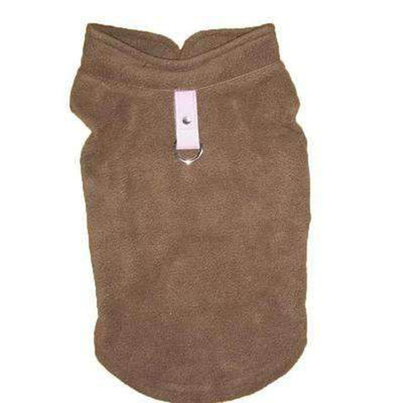 Winter Fleece Vest with D-Link Pet Clothes Oberlo Brown L