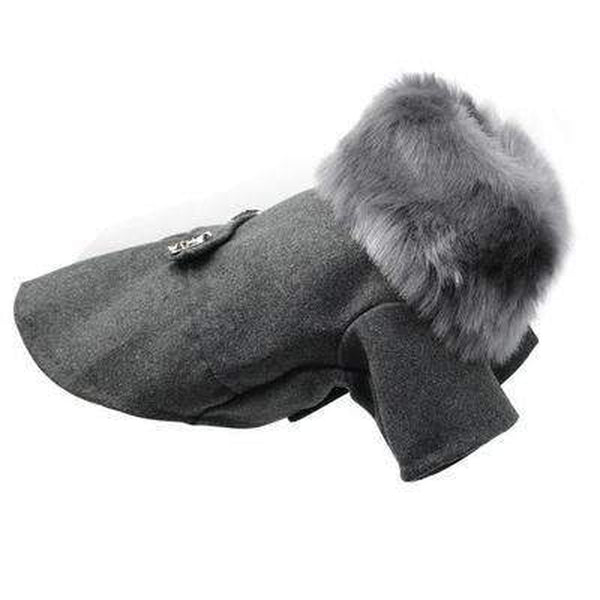 Fur Neck Dog Peacoat, Pet Clothes, Furbabeez, [tag]