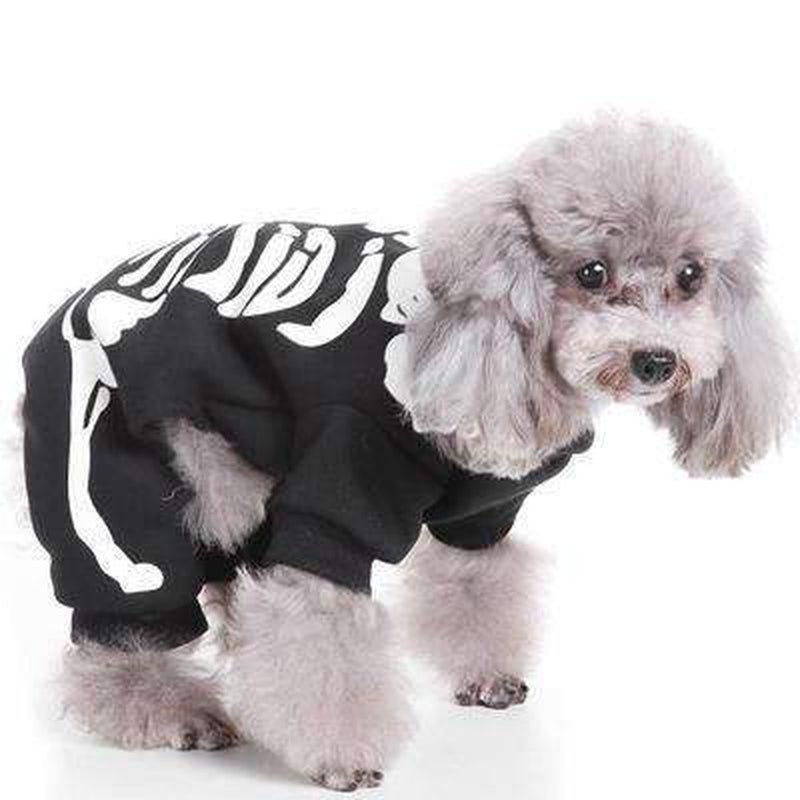 Skeleton Bones Dog Costume Pet Clothes Oberlo