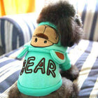 Bear Hoodie with Ears, Pet Clothes, Furbabeez, [tag]