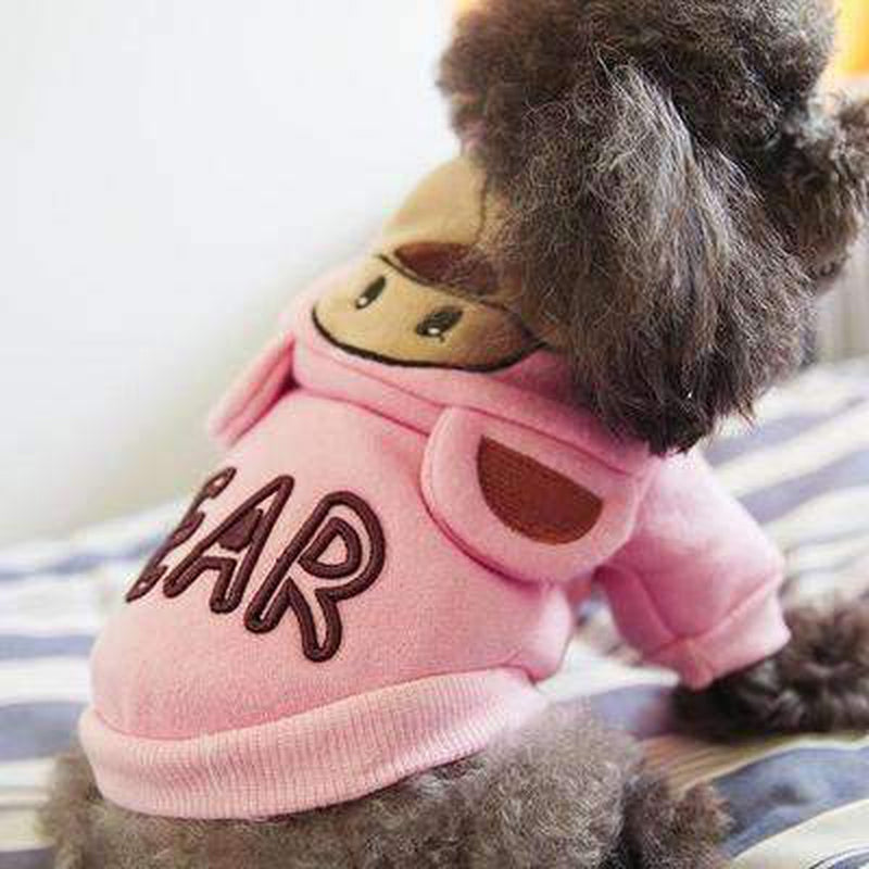 Bear Dog Hoodie with Ears, Pet Clothes, Furbabeez, [tag]