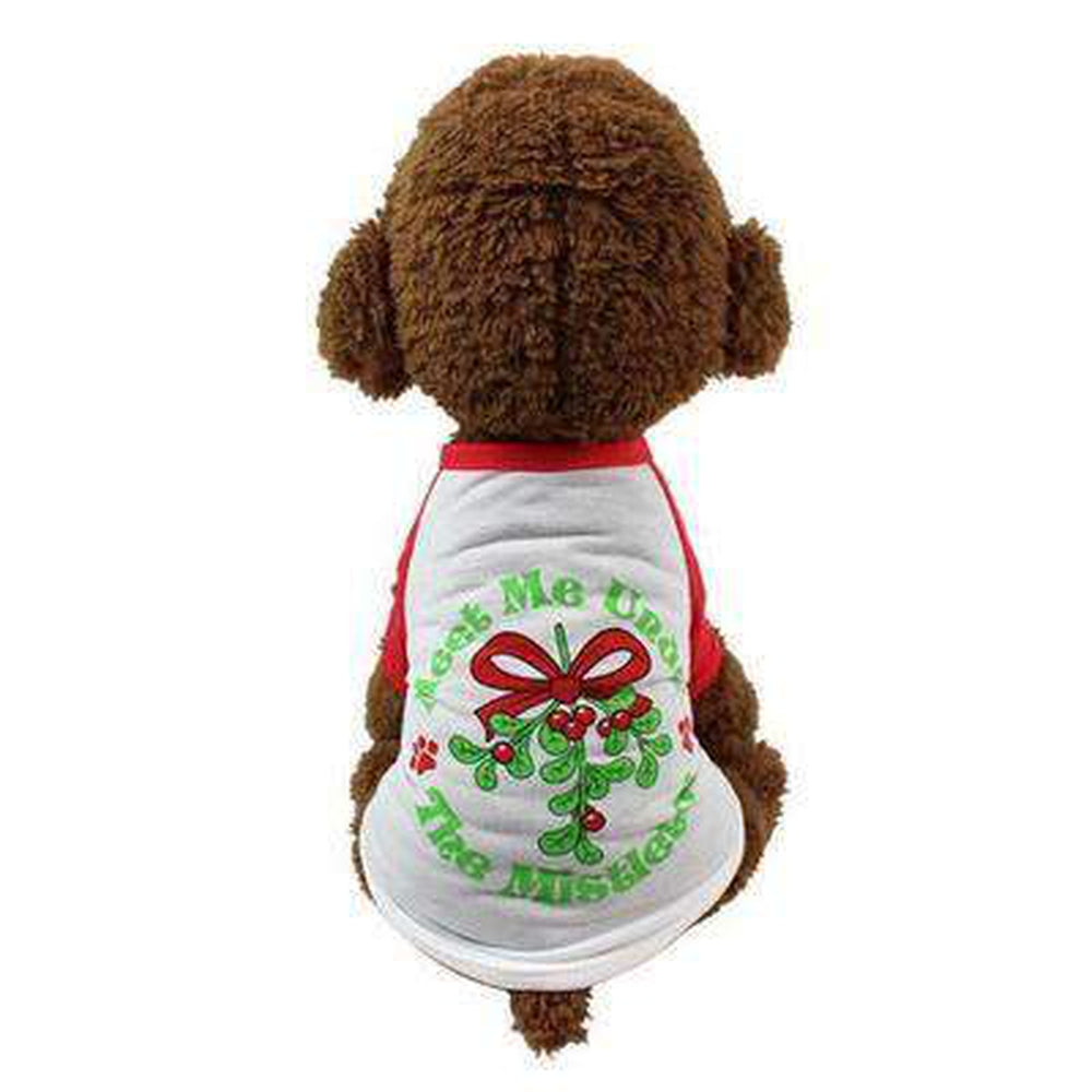 Mistletoe Christmas Dog T-Shirt, Pet Clothes, Furbabeez, [tag]