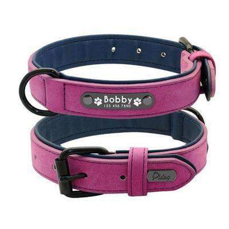 Personalized Leather Dog Collar Leash Set Collars and Leads Oberlo