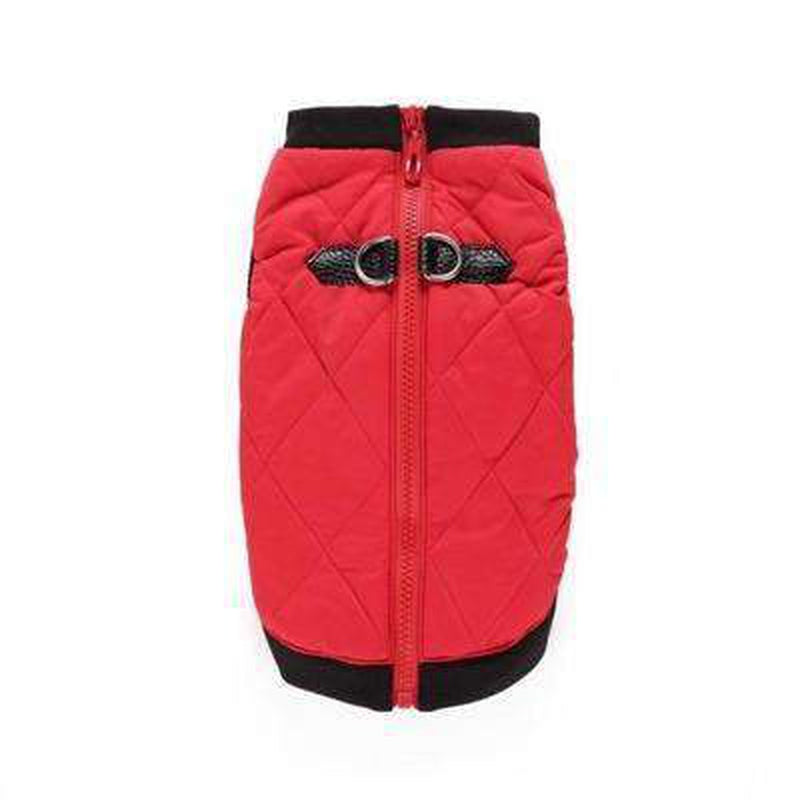 Two Tone Quilted Vest Pet Clothes Oberlo Red S