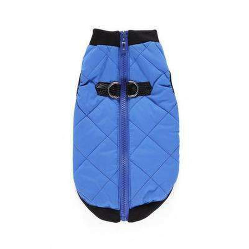 Two Tone Quilted Vest Pet Clothes Oberlo Blue XS