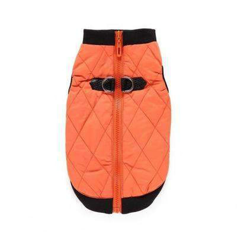 Two Tone Quilted Vest Pet Clothes Oberlo Orange XL