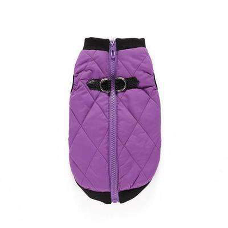 Two Tone Quilted Vest Pet Clothes Oberlo Purple M