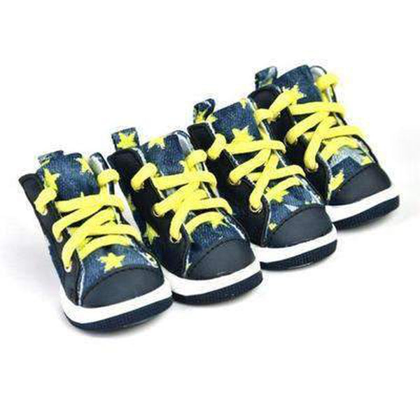 43914b2a8cac Converse Dog Shoes - Denim and Yellow Stars