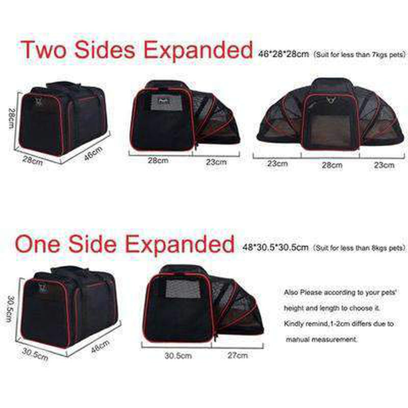Airline Approved 2 Sided Expandable Pet Carrier, Pet Accessories, Furbabeez, [tag]