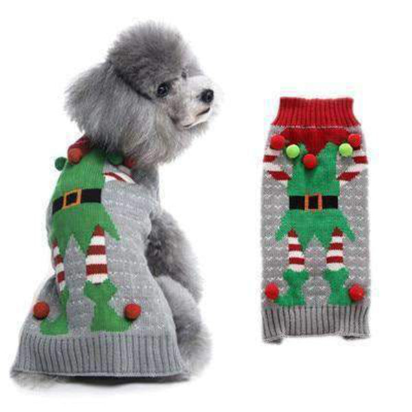 My Dog is an Elf Christmas Sweater Pet Clothes Oberlo XXS