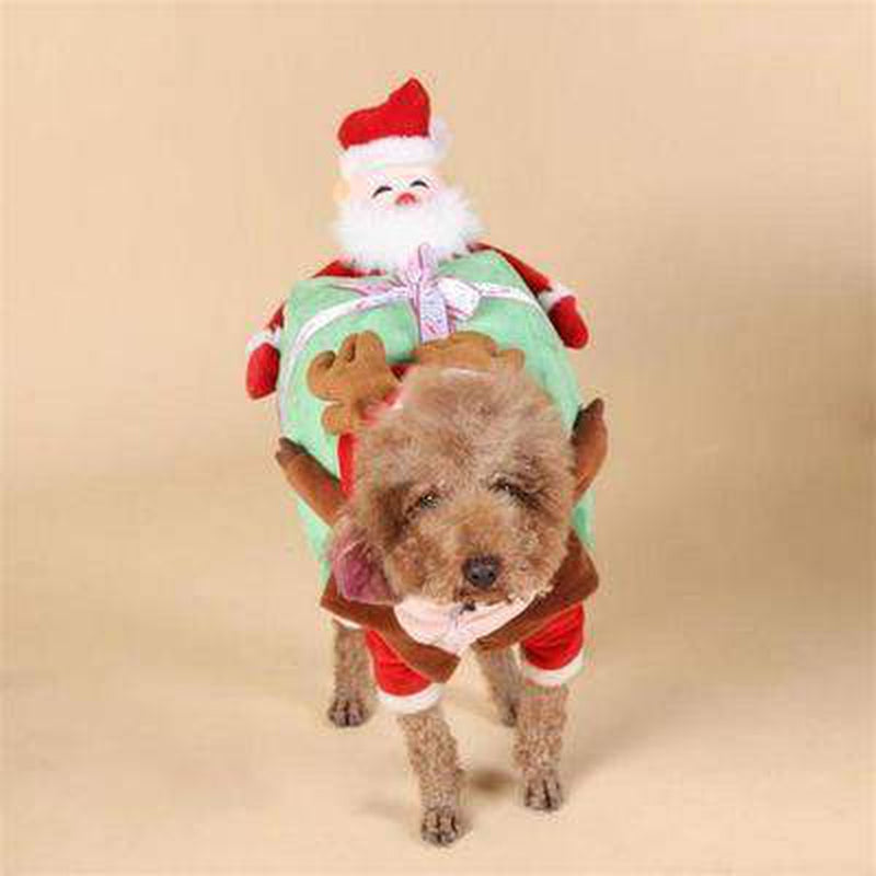 Santa Claus Dog Carrying Present Costume Pet Clothes Oberlo