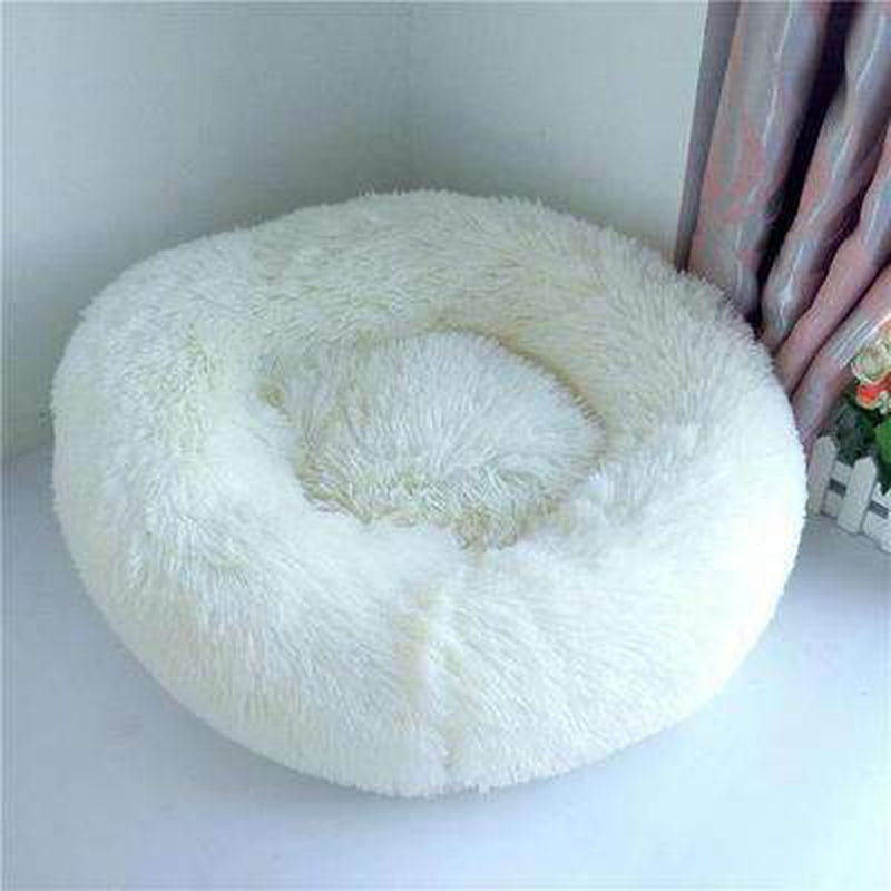 Warm Luxury Donut Dog Bed Pet Bed Oberlo white S