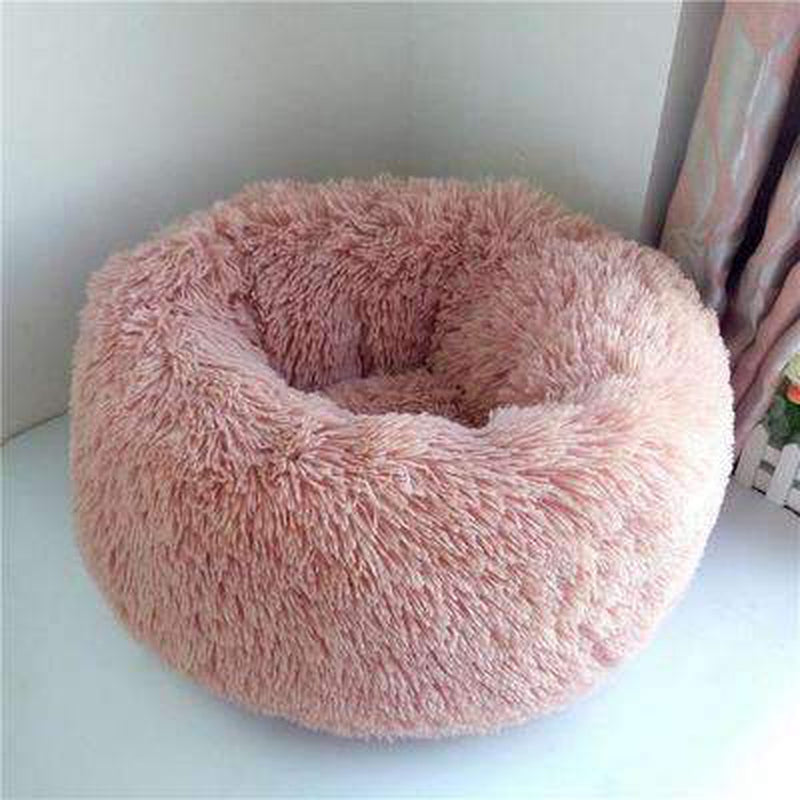 Warm Luxury Donut Dog Bed Pet Bed Oberlo pink S