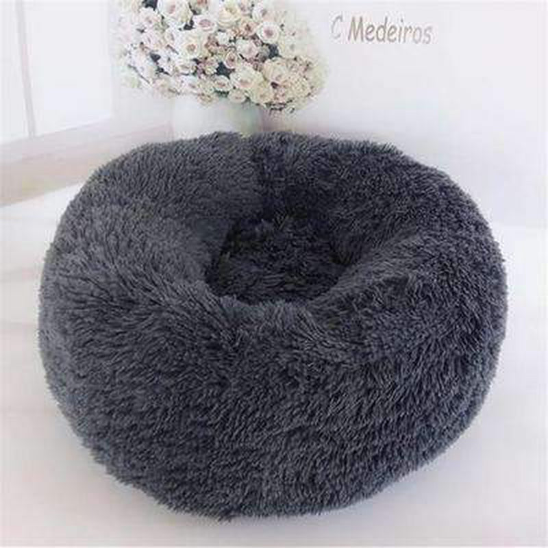 Warm Luxury Donut Dog Bed Pet Bed Oberlo grey S