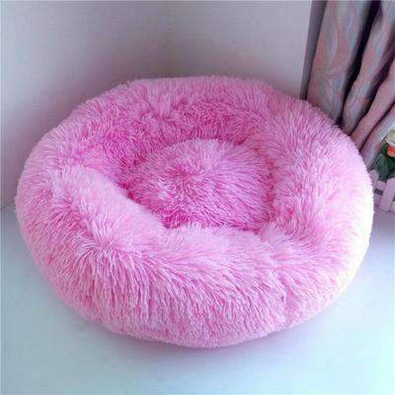 Warm Luxury Donut Dog Bed Pet Bed Oberlo hibiscuspink S