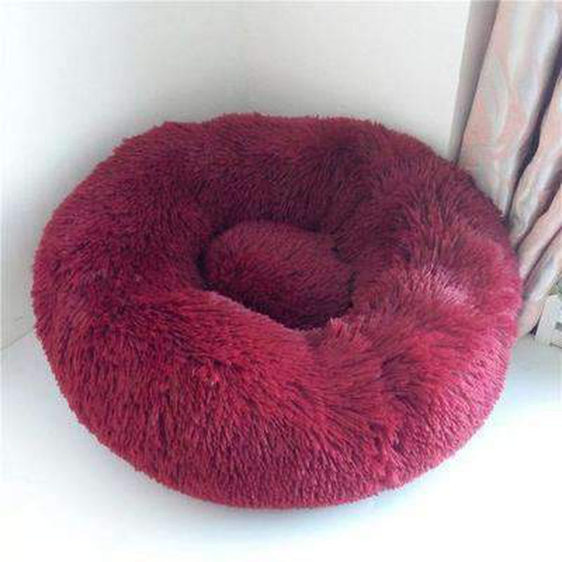 Warm Luxury Donut Dog Bed Pet Bed Oberlo red S