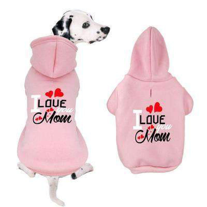 I Love You Mom Dog Hoodie, Pet Clothes, Furbabeez, [tag]