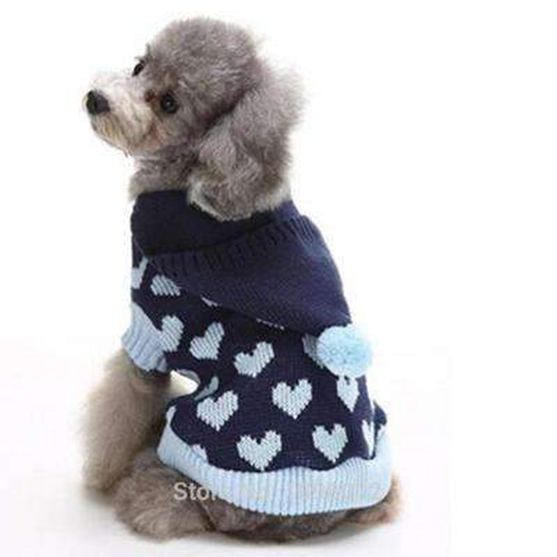 Pom Pom Love Heart Dog Sweater Pet Clothes Oberlo
