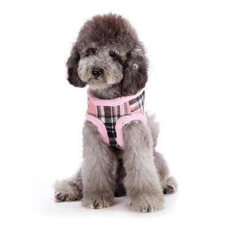 Soft Fur Plaid Pet Winter Harness Collars and Leads Oberlo