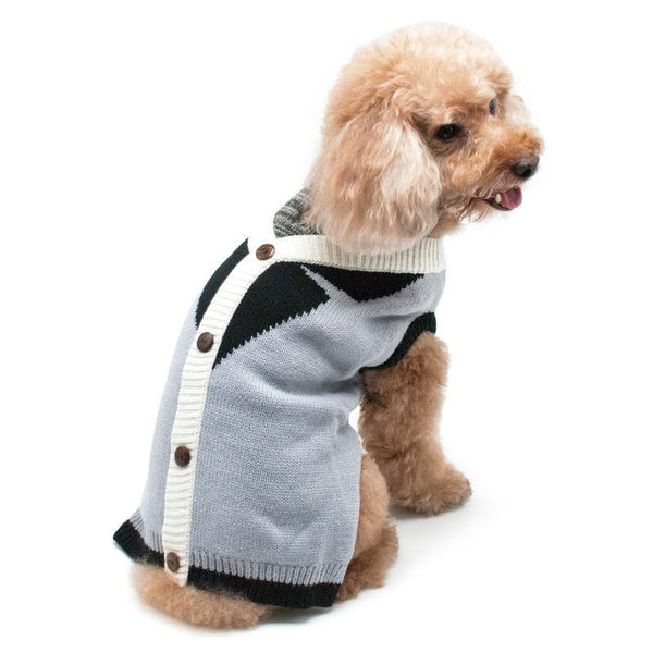 Professor Cardigan Dog Sweater, Pet Clothes, Furbabeez, [tag]