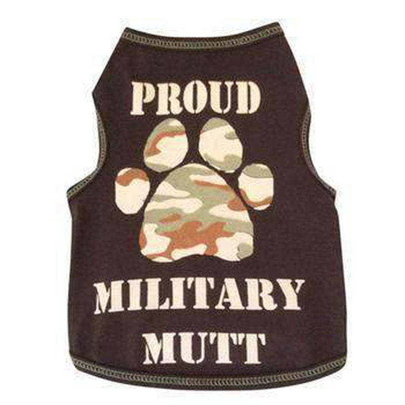 Proud Military Mutt Dog Tank Pet Clothes I See Spot