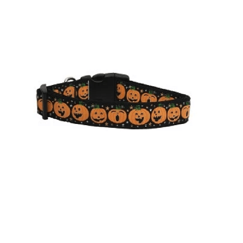 Pumpkins Nylon Ribbon Dog Collar & Leash, Collars and Leads, Furbabeez, [tag]
