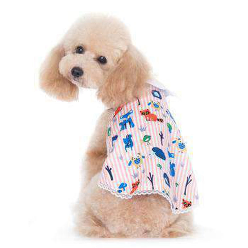 PuppyPAWer Animal Fun Dog Dress by Dogo - Pink Pet Clothes DOGO