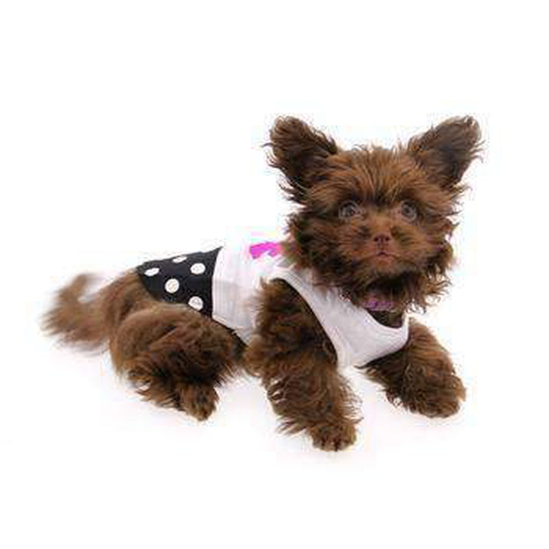 PuppyPAWer Flower N Dot Tank Top, Pet Clothes, Furbabeez, [tag]