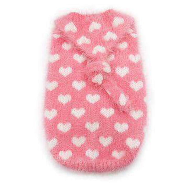 PuppyPAWer Heart Hoodie Dog Sweater - Pink Pet Clothes DOGO