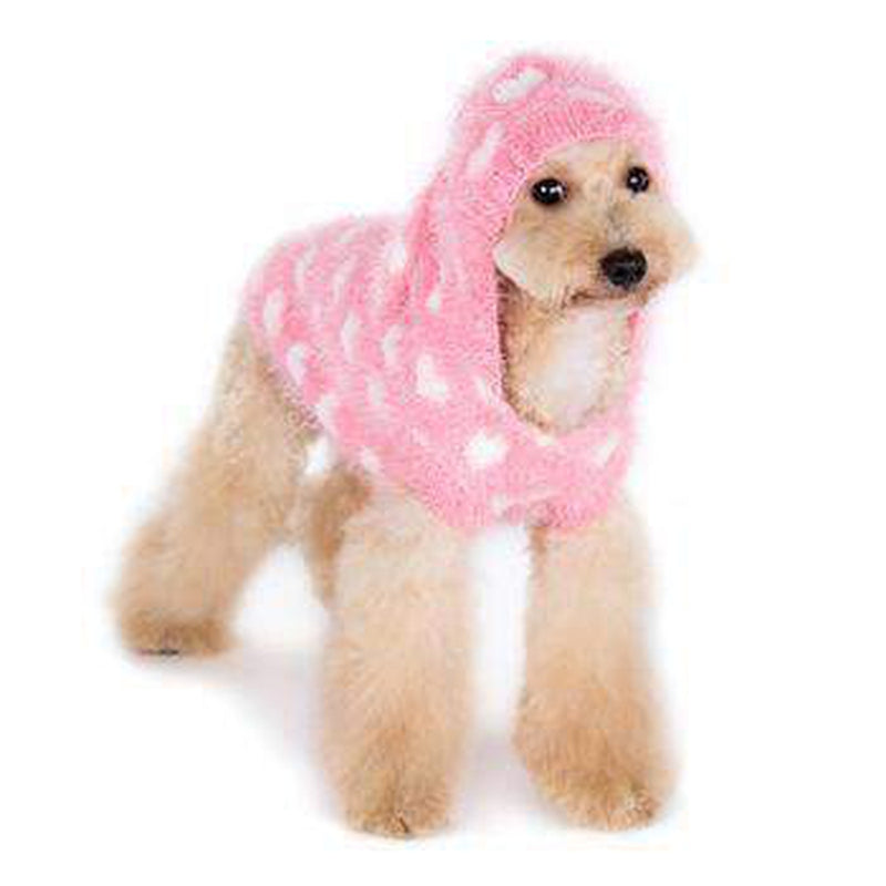 PuppyPAWer Heart Hoodie Dog Sweater - Pink, Pet Clothes, Furbabeez, [tag]