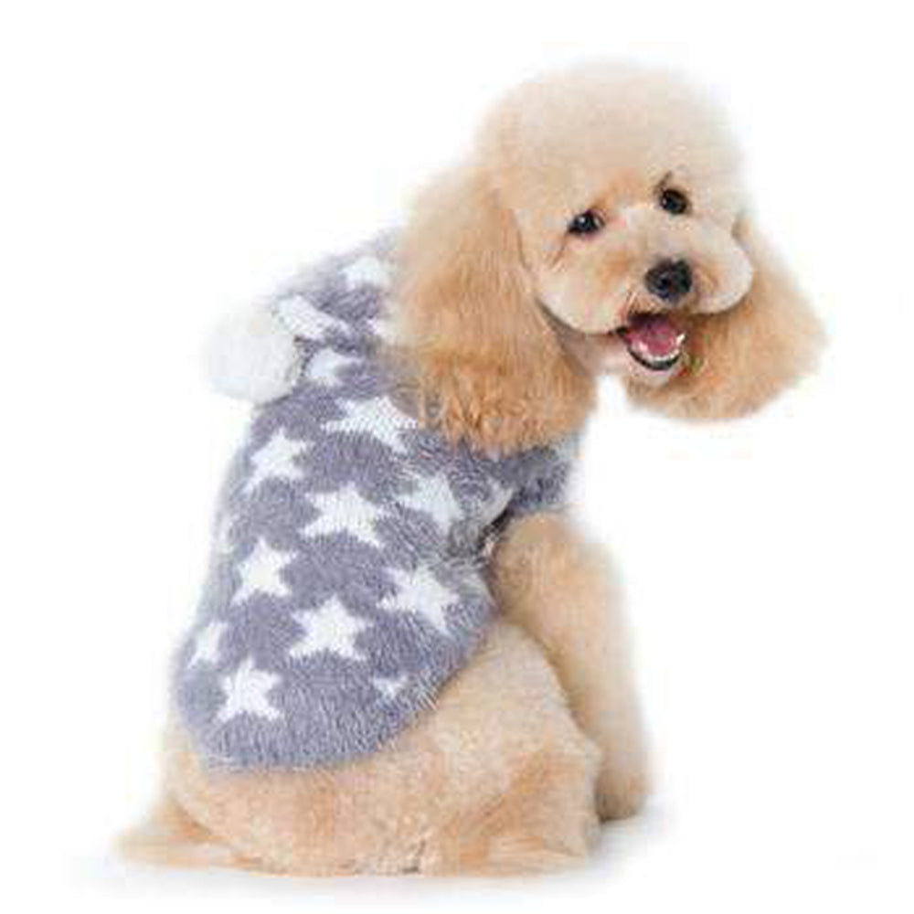 PuppyPAWer Star Hoodie Dog Sweater by Dogo - Gray, Pet Clothes, Furbabeez, [tag]