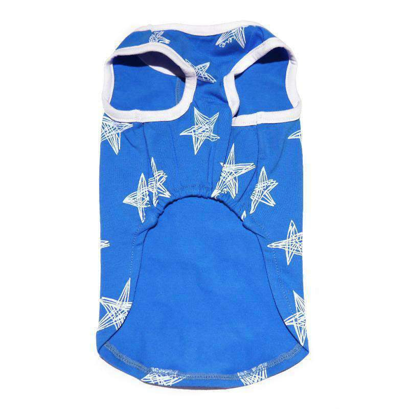 PuppyPAWer Starry Dog Tank Top by Dogo - Blue Pet Clothes DOGO