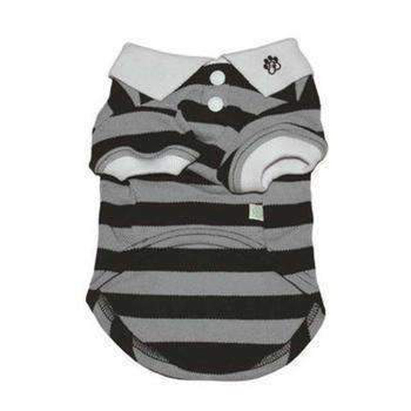 PuppyPAWer Stripe Dog Polo by Dogo - Black, Pet Clothes, Furbabeez, [tag]