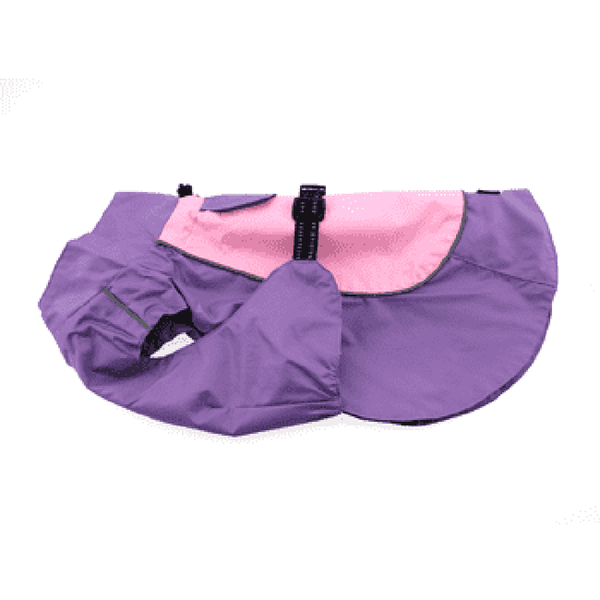 Dog Raincoat Body Wrap by Doggie Design - Pink and Lavender, Pet Clothes, Furbabeez, [tag]