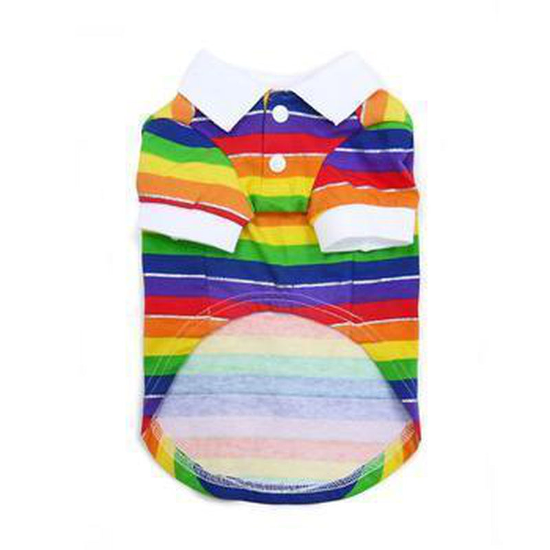 Rainbow Polo Dog Shirt, Pet Clothes, Furbabeez, [tag]