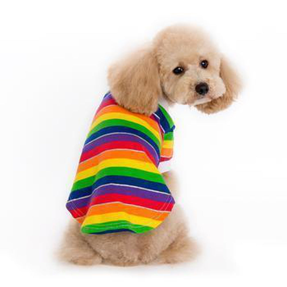 Rainbow Polo Dog Shirt