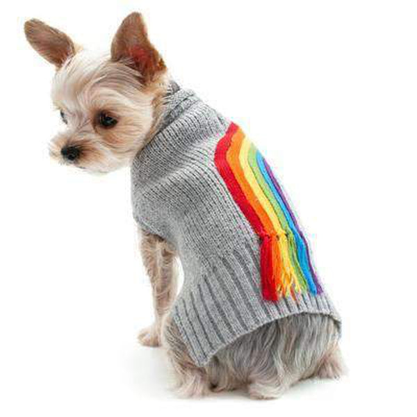 Rainbow Turtleneck Sweater, Pet Clothes, Furbabeez, [tag]